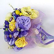 Свадебный салон ручной работы. Ярмарка Мастеров - ручная работа Букет невесты из ткани и пуговиц. Handmade.
