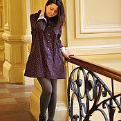 Одежда ручной работы. Ярмарка Мастеров - ручная работа Мини- платье из утепленного хлопка. Handmade.
