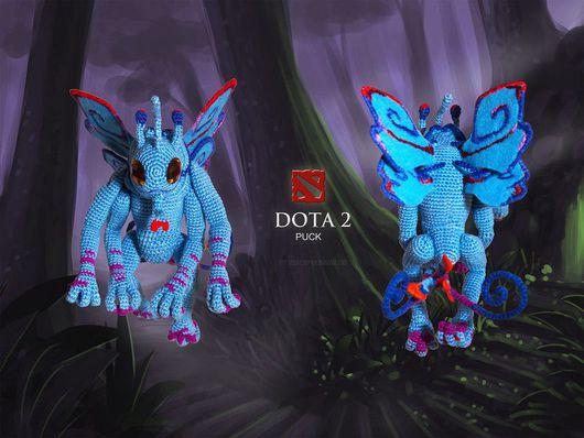 Коллекционные куклы ручной работы. Ярмарка Мастеров - ручная работа. Купить Puck - The Fairy dragon (Dota 2). Handmade.