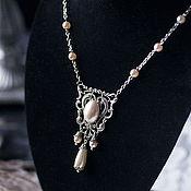Свадебный салон handmade. Livemaster - original item Victorian wedding set: necklace and earrings. Handmade.
