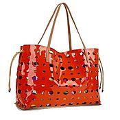 Винтаж handmade. Livemaster - original item Large orange Faux Leather Bag. Italy. Handmade.