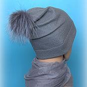 Аксессуары handmade. Livemaster - original item Hat felted female....with pompom. Handmade.