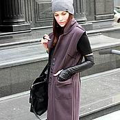 Одежда ручной работы. Ярмарка Мастеров - ручная работа Пальто без рукавов  Ash Сowberry. Handmade.