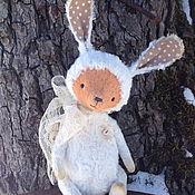 Куклы и игрушки ручной работы. Ярмарка Мастеров - ручная работа Лисенок в костюме зайчика. Handmade.