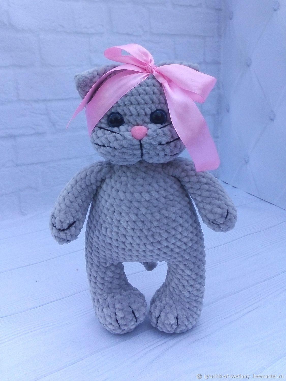 Вязаный плюшевый котик, Амигуруми куклы и игрушки, Днепр,  Фото №1
