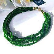 Украшения handmade. Livemaster - original item Necklace with chrome diopside