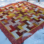 Для дома и интерьера ручной работы. Ярмарка Мастеров - ручная работа Лоскутное покрывало. Handmade.