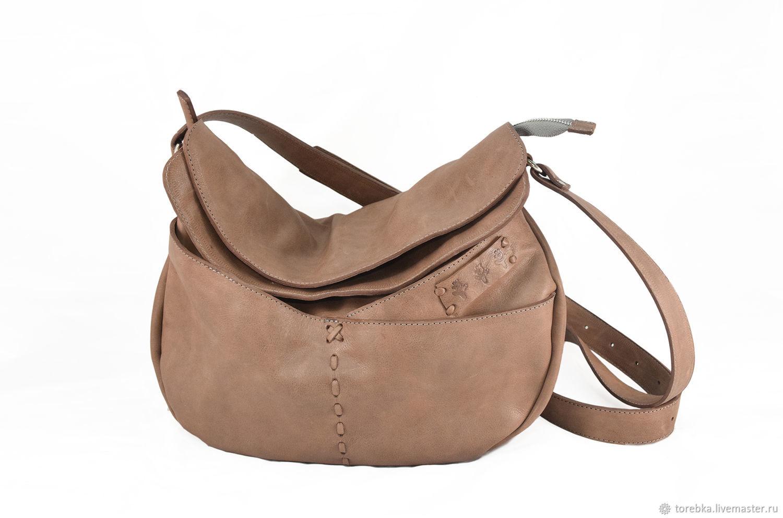 281f2cc08b1d Женские сумки ручной работы. Ярмарка Мастеров - ручная работа. Купить  Кожаная бохо-сумка ...