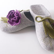 Обувь ручной работы handmade. Livemaster - original item Slippers felted women`s. Handmade.