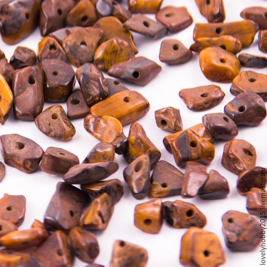 Натуральные камни россыпью `ТИГРОВЫЙ ГЛАЗ`