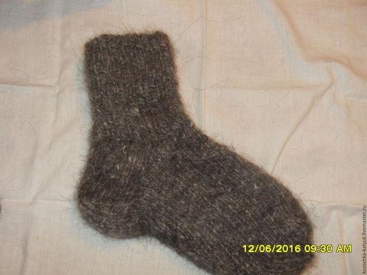 Пуховые носки Урюпинский козий пух ручная работа