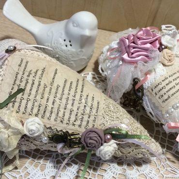 Куклы и игрушки ручной работы. Ярмарка Мастеров - ручная работа Сердечки с пожеланиями. Handmade.