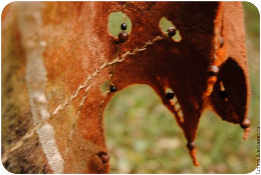 """Шали, палантины ручной работы. Ярмарка Мастеров - ручная работа. Купить Войлочный палантин """"Шаг второй: Октябрь..."""". Handmade."""