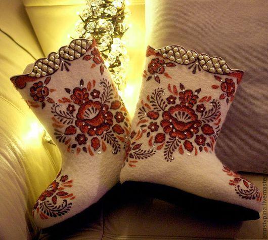 Обувь ручной работы. Ярмарка Мастеров - ручная работа. Купить валенки Узорные. Handmade. Валенки, валенки для улицы, войлок, подарок