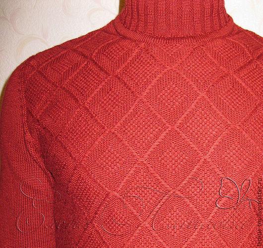 """Для мужчин, ручной работы. Ярмарка Мастеров - ручная работа. Купить Свитер """"Винная ягода"""". Handmade. Бордовый, мужской свитер"""
