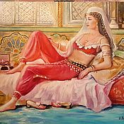 Картины и панно handmade. Livemaster - original item Girl Of The East. Oil painting.. Handmade.
