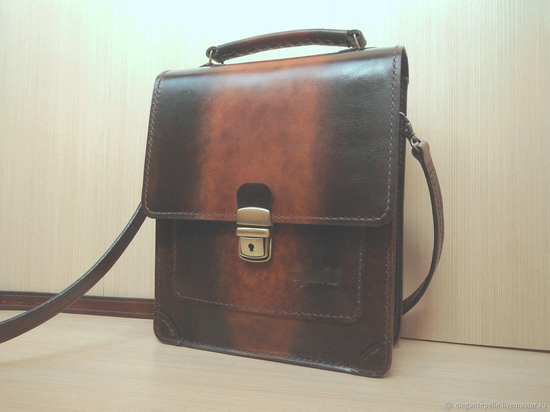 463c344d9736 Мужские сумки ручной работы. Ярмарка Мастеров - ручная работа. Купить  Мужская сумка планшет.