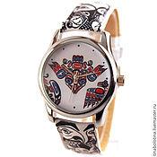 Украшения ручной работы. Ярмарка Мастеров - ручная работа Дизайнерские наручные часы Майя Орнамент. Handmade.