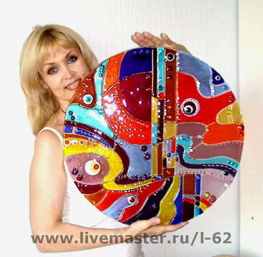 Abstract Art handmade. Livemaster - handmade. Buy panels of glass, fusing Rock ' n ' roll.Glass