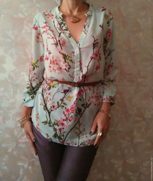 """Блузки ручной работы. Ярмарка Мастеров - ручная работа. Купить блузка """"Тиффани"""". Handmade. Бирюзовый, мятная свадьба, бирюзовая блузка"""