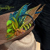 Украшения handmade. Livemaster - original item Hat hair clip feather. Handmade.