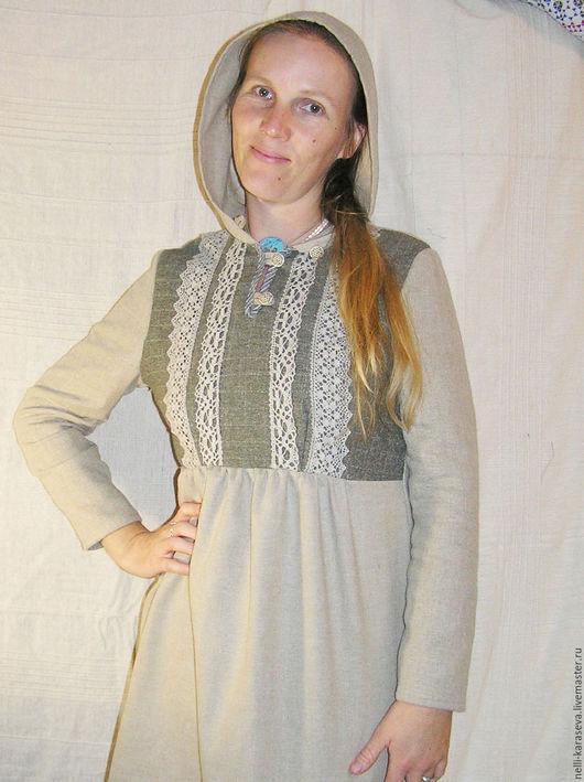 Этническая одежда ручной работы. Ярмарка Мастеров - ручная работа. Купить Шерстяное платье Алиса. Handmade. Шерсть, лён натуральный