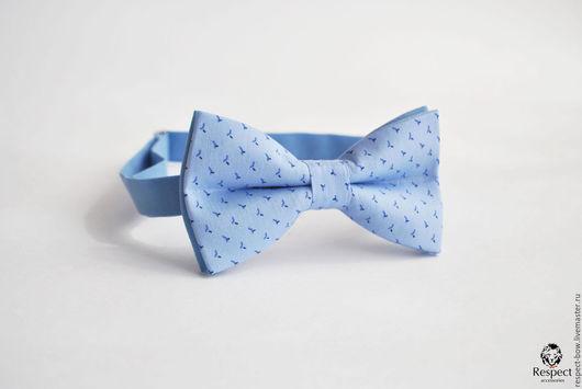 Галстуки, бабочки ручной работы. Ярмарка Мастеров - ручная работа. Купить Галстук бабочка Дворянин / голубая бабочка-галстук, голубая свадьба. Handmade.