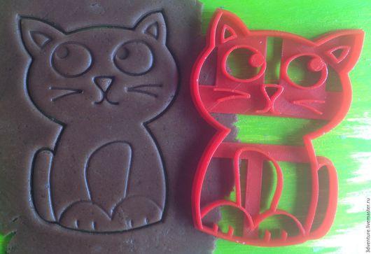 Кухня ручной работы. Ярмарка Мастеров - ручная работа. Купить Форма для пряников и печенья Задумчивый кот. Handmade. Разноцветный