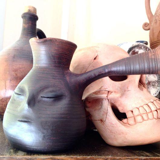 Чайники, кофейники ручной работы. Ярмарка Мастеров - ручная работа. Купить Турка глиняная волшебная.. Handmade. Турка