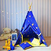 """Вигвам ручной работы. Ярмарка Мастеров - ручная работа Вигвам детский """"Маленький принц"""" (палатка, шалаш). Handmade."""
