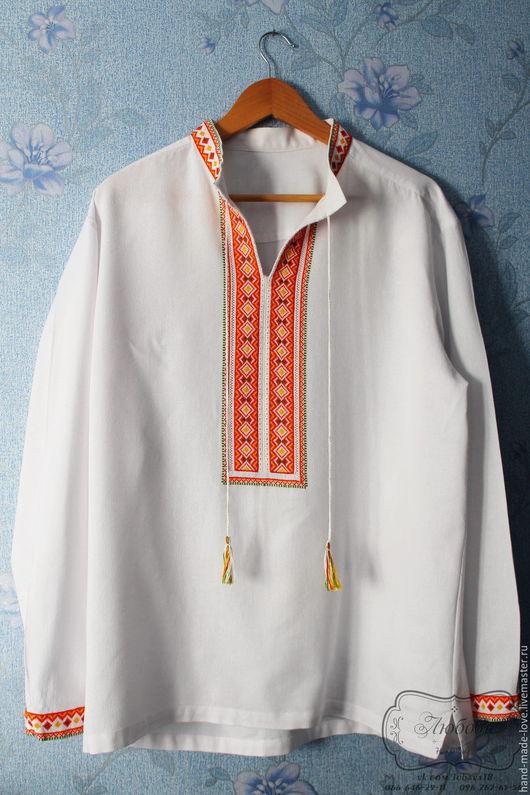 Этническая одежда ручной работы. Ярмарка Мастеров - ручная работа. Купить Мужская вышиванка на заказ ручной работы. Handmade. Вышивка