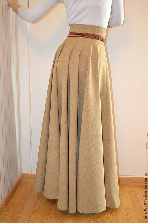 Платье с широкой юбкой как сшить