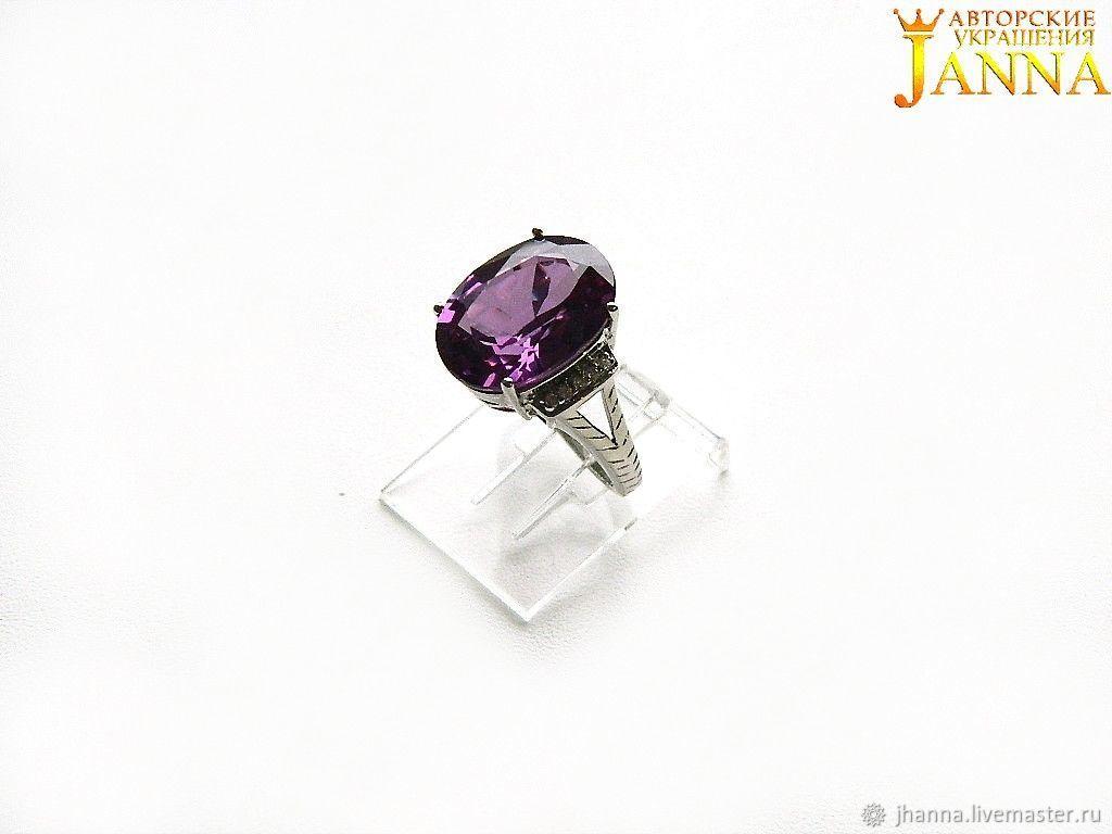 Alexandrite. ' Maddie' ring alexandrite 12.70 carats, Rings, Volgograd,  Фото №1