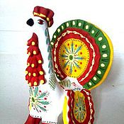 Куклы и игрушки ручной работы. Ярмарка Мастеров - ручная работа Дымковская игрушка. Handmade.