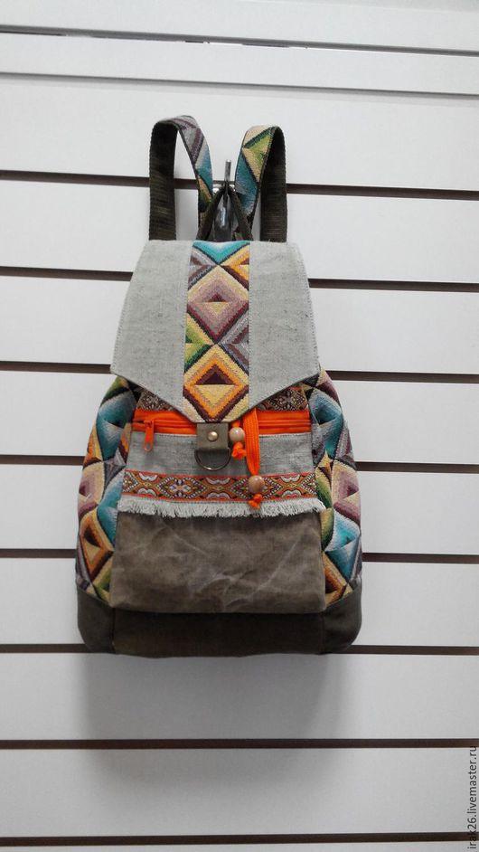 Рюкзаки ручной работы. Ярмарка Мастеров - ручная работа. Купить рюкзак Радужный. Handmade. Комбинированный, рюкзак городской, стильный аксессуар