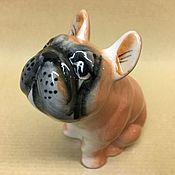 Подарки к праздникам handmade. Livemaster - original item French bulldog porcelain figurine. Handmade.