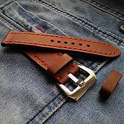 Украшения handmade. Livemaster - original item Watch band leather 24mm. Handmade.