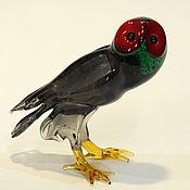 Для дома и интерьера handmade. Livemaster - original item Interior sculpture of colored glass Owl Glaux. Handmade.