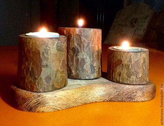 Подсвечники ручной работы. Ярмарка Мастеров - ручная работа. Купить Подсвечник деревянный. Handmade. Подсвечник из дерева, освещение, свеча