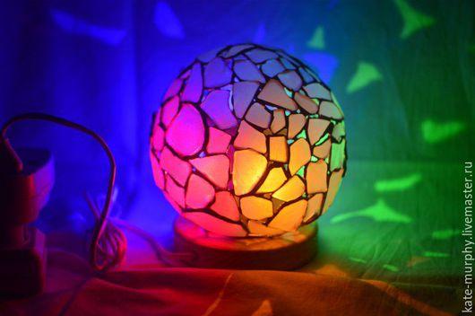 """Освещение ручной работы. Ярмарка Мастеров - ручная работа. Купить Сенсорный светодиодный светильник """"Магический шар"""". Handmade. Комбинированный"""
