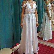 handmade. Livemaster - original item chiffon wedding dress. Handmade.