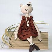 Куклы и игрушки ручной работы. Ярмарка Мастеров - ручная работа Текстильная кошка Терра. Handmade.