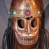 Сувениры и подарки ручной работы. Ярмарка Мастеров - ручная работа Медный шлем с маской. Handmade.