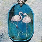"""Украшения ручной работы. Ярмарка Мастеров - ручная работа Кулон """"Фламинго"""". Handmade."""