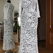 Dresses handmade. Livemaster - original item Knitted cotton dress