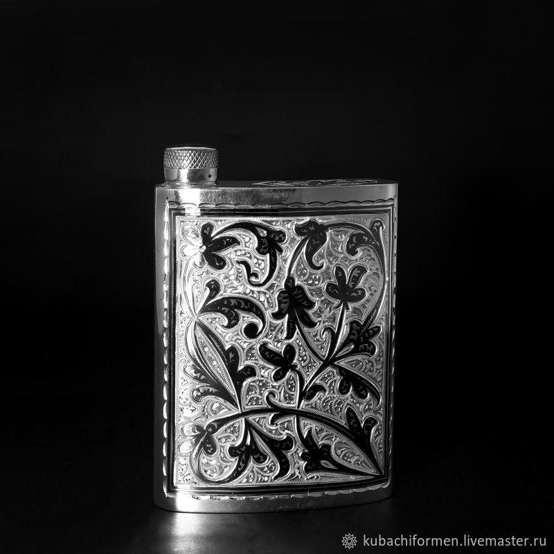 Фляга из серебра «Одри» 875 пробы, Подарки, Москва, Фото №1
