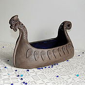 Русский стиль handmade. Livemaster - original item Bratina ceramic Drakkar. Handmade.