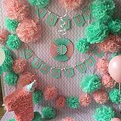 Подарки к праздникам ручной работы. Ярмарка Мастеров - ручная работа Оформление фотозоны в мятно-розовом цвете.. Handmade.