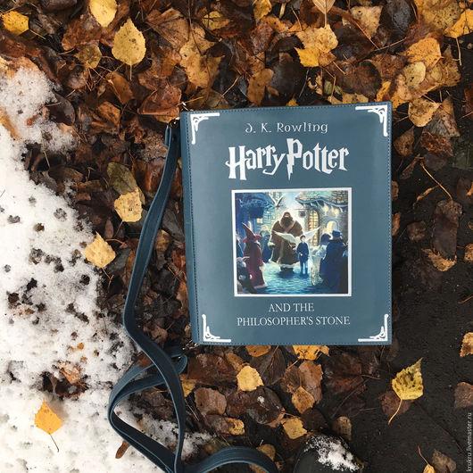 Женские сумки ручной работы. Ярмарка Мастеров - ручная работа. Купить Сумка Книга Гарри Поттер из кожи 25х32х5 см. Handmade.