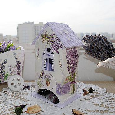 """Для дома и интерьера ручной работы. Ярмарка Мастеров - ручная работа Чайный домик """"Лавандовое настроение"""". Handmade."""
